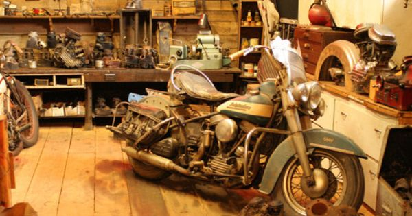 Dusty Panhead With Images Harley Bikes Motorcycle Workshop