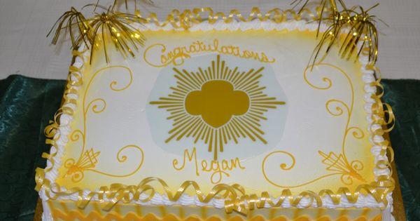 girl scout gold award cake