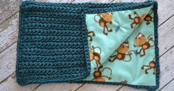 RESERVED for JILL T. Reversible Crochet Baby Blanket, Fleece Baby Blanket, Crochet