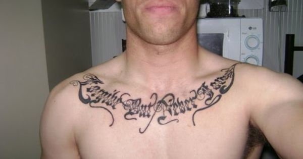 Chest Tattoo Ideas For Men Women Tattoos For Guys Writing Tattoos Tattoo Designs Men