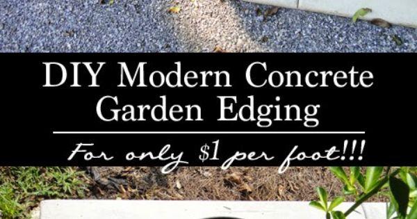 Terra Urbem Diy Modern Concrete Garden Edging House 400 x 300