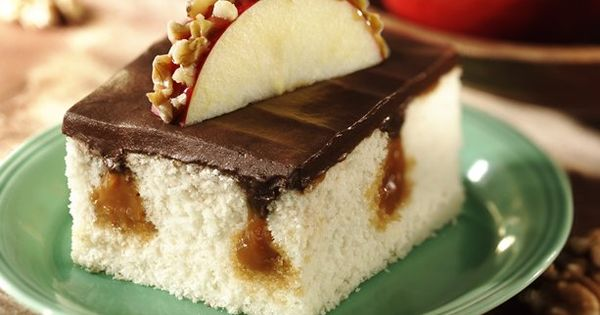 Caramel Surprise Cake - Surprise! Betty Crocker® Rich & Creamy frosting tops