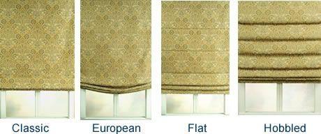 4 Different Types Of Roman Shades Roman Shades Roman Blinds