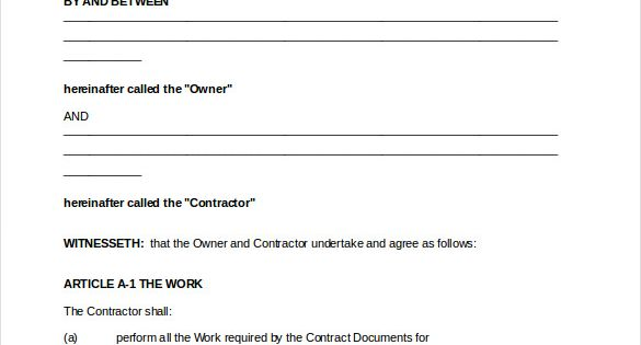 payment agreement templates free sample example format letter - examples of contracts between two businesses