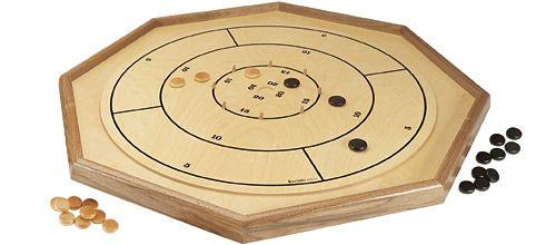 Deluxe Crokinole Checker Chess Board Chess Board Pub Games Wooden Games