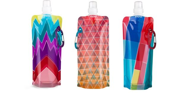 Runway Foldable Anti-Bottle by AHAlife. This is brilliant - a water bottle