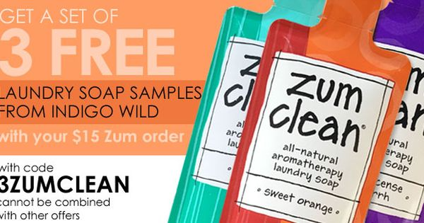 Get A Set Of 3 Free Laundry Soap Samples From Indigowild With