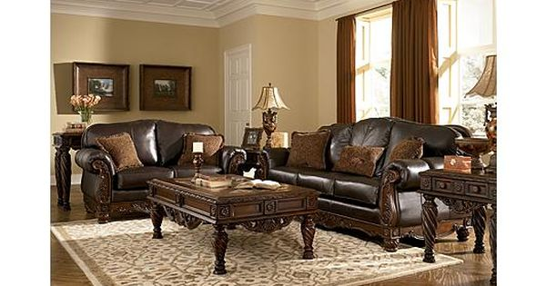 Our formal living room couch and loveseat i don 39 t like for Ashley north shore chaise