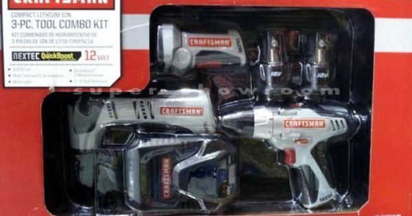 Craftsman Nextec Compact Lithium Ion 3 Pc Tool Combo Kit Price 103 51 Combo Kit Garden Tool Set