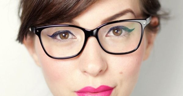 Makeup Tips For Gals With Glasses | www.theglittergui... {I've been looking for