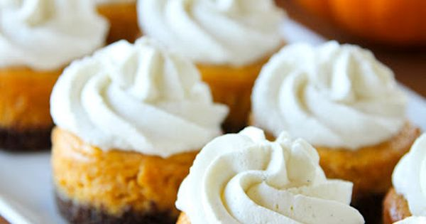 Mini Pumpkin Cheesecakes with Gingersnap Crusts Thanksgiving Recipe Dessert