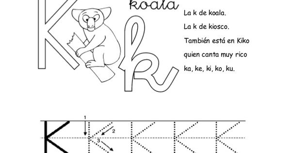 silabas de la consonante ka ke ki ko ku