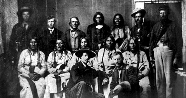 Black Kettle (seated center) and other