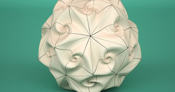 Spidron Rose Subdivision Torolf Sauermann Picture On Visualizeus Paper Lamp Lamp Novelty Lamp