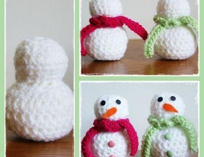 Tuto faire un bonhomme de neige au crochet d co de - Bonhomme de neige au crochet ...