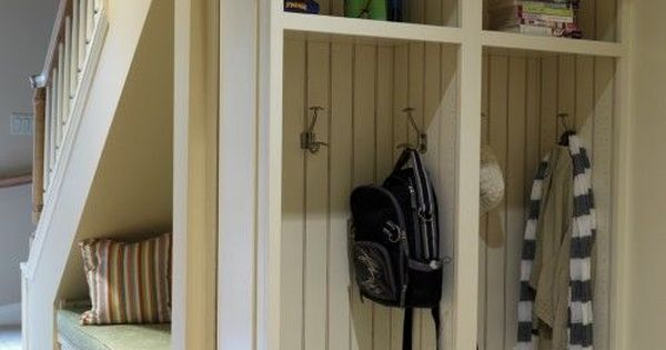 Lockers Mud Room Lockers And Space Under Stairs On Pinterest