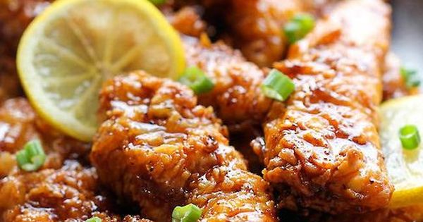 Asian lemon chicken recipe - There is a secret ingredient, too. :)
