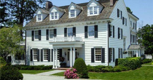 Best Classic New England Home Cedar Shingle Roof Black 640 x 480