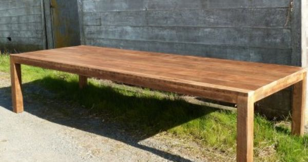 Reclaimed Wood Table Dining Parsons Antique Oak