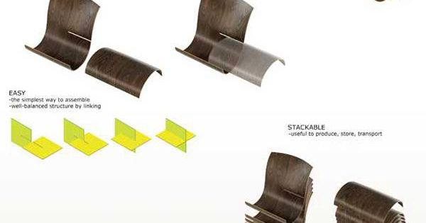 Outdoor lounger chair - Dyad Stackable Lounger By Joo Hongkyu 4 Yoga Mat Turns