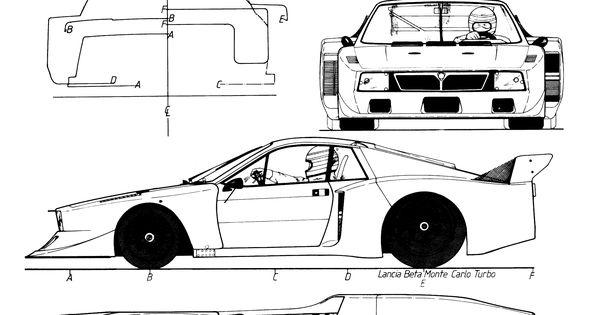 Lancia Beta Montecarlo Turbo Blueprint