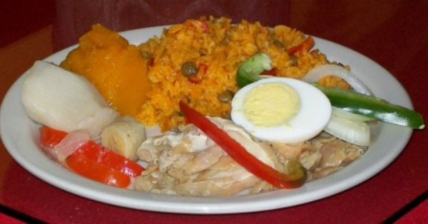Arroz con gandules verduras huevo hervido bacalao - Arroz blanco con bacalao ...