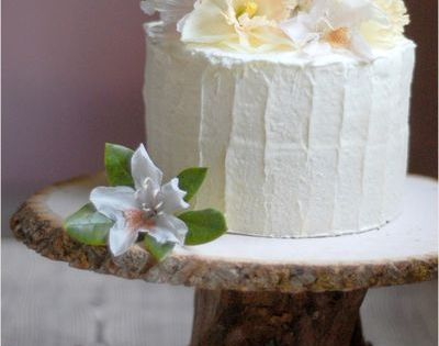 DIY Rustic Wedding Cake Stand - DIY Weddings - Once Wed