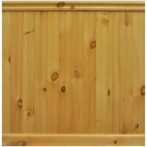 House Of Fara 8 Lin Ft North America Knotty Pine Tongue And Groove Wainscot Paneling 32pkit The Home Depot Wainscoting Panels Wainscoting Knotty Pine