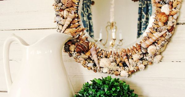 How to Make a Seashell Mirror - on HGTV by Miss Mustard