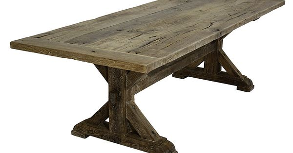 french oak trestle base farm table want this in my dining room seaside living pinterest. Black Bedroom Furniture Sets. Home Design Ideas