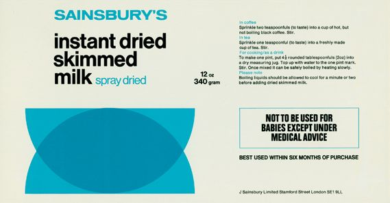 Peter Dixon In House Design For Sainsbury S Packaging 1960s 70s
