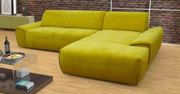 Dreams4Home Polsterecke London, Sofa Ecksofa Sitzverbreiterung Couch  Wohnlandschaft, Gelb Grün Lime. Modern LivingDiapersDream ...