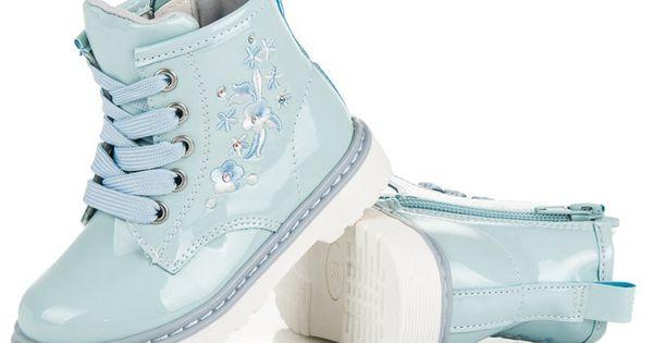 Polbuty I Trzewiki Dzieciece Dla Dzieci Americanclub Niebieskie Lakierowane Trzewiki American Club Wedge Sneaker Shoes Top Sneakers