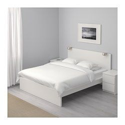 Malm Cadre De Lit Haut Blanc 140x200 Cm Ikea Malm Bed Frame Ikea Bed Frames White Bed Frame