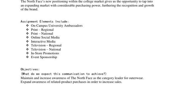 marketing planning assignment brief