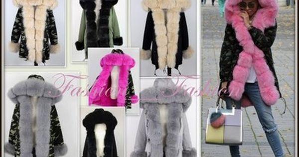 Kurtka Parka Moro Army Kolory Futro Z Lisa 36 S 6558950480 Oficjalne Archiwum Allegro Fur Coat Fashion Coat