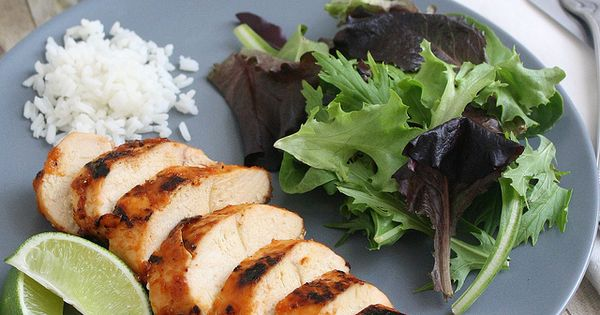Grilled Chicken with Peach BBQ Sauce by Tracey's Culinary Adventures ...