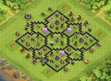 Farming Base Layout Coc Th 8 10