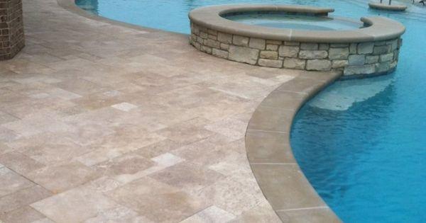 Resplendent non slip pool deck tile with travertine tile - Non slip tiles for swimming pools ...