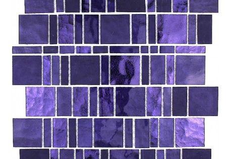 Glass Mosaic Tile Bathroom Shower Pulp Violet Mosaico Glass