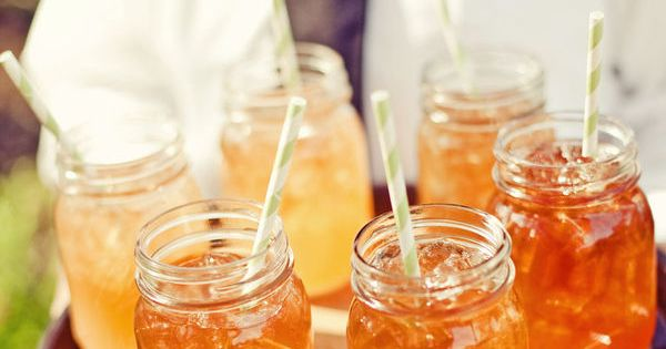 sweet tea in a mason jar anyone? I like this idea.