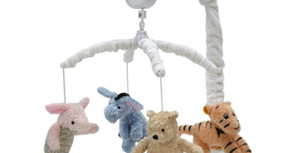 Disney My Friend Pooh Musical Mobile, Sage/Ivory, (baby, baby gift, baby mobile,