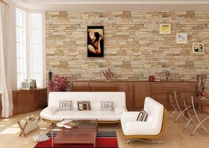 Paredes de piedra natural o artificial piedra artificial - Piedra paredes interior ...