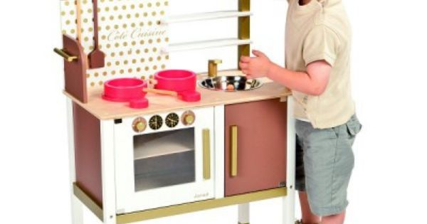 Cuisini re en bois maxi cuisine chic janod magasin de for Cuisine enfant bois janod