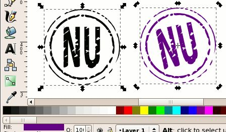 Create A Rubber Stamp Look With Inkscape Inkscape Svgs