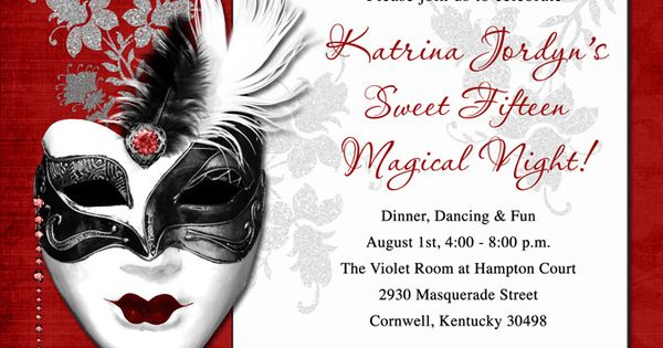 Masquerade Wedding Invitations as luxury invitations sample