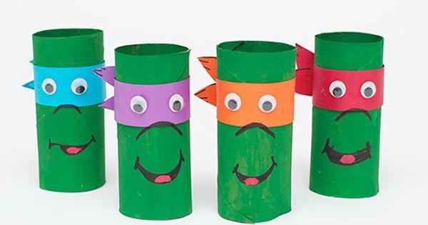 Tortues Ninja Avec Des Rouleaux De Papier Toilette Projets Essayer Pinterest Recherche