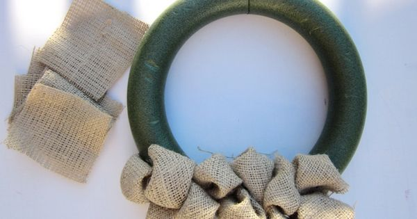 Burlap bubble wreath tutorial. Front door