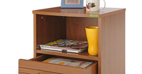 Buy Zuari Bedside Table Optima Natural Teak Finish Online India Zansaar Furniture Store Teak Furniture Table