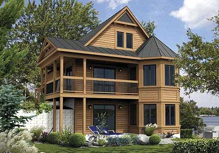 Plan 80680pm Vacation Cabin With Reading Loft